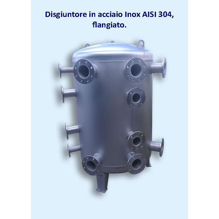 Disgiuntore in acciaio Inox AISI 304 flangiato.